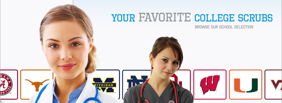 Your Favorite College Scrubs-Browse our School Selections
