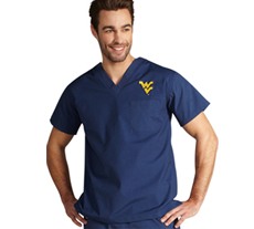University of West Virginia Unisex College Scrub Top 5450